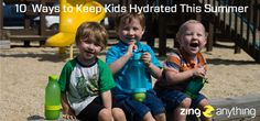 Tips and tricks on how to keep your little ones healthy and hydrated in this hot weather!