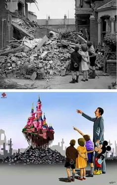 Rendered homeless by German bombs during the Blitz, a London boy points out his bedroom to friends in 1940 Before and After Images of World Famous Photographs Meaningful Pictures, Sad Pictures, Funeral Pyre, Boring People, Deep Art, Innocent Child, The Blitz, Japanese Boy, World Famous