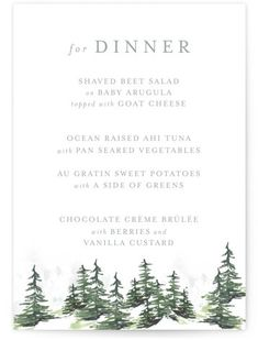 A Watercolor Snow Covered Evergreen For The Winter Destination Wedding. Whimsical, Grey Baby Shower Invitations From Minted By Independent Artist Mere Paper. Mountain Wedding Invitations, Blue Wedding Invitations, Wedding Favor Tags, Wedding Menu, Wedding Programs, Baby Shower Invitations, Wedding Events, Destination Wedding, Dream Wedding