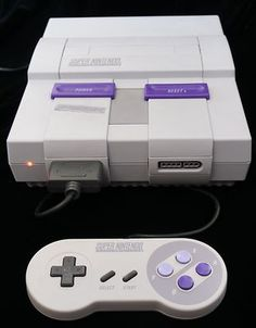Tested Super Nintendo System With Game Un Yellowed
