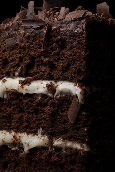 Chocolate Layer Cake with Cream Cheese Frostings is sure to impress, in both flavor and appearance. This tall, beautiful cake is rich, moist, and delicious! - Bake or Break