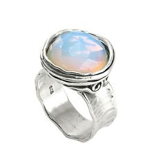 Silver Ring with Opalite