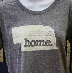 Nebraska+Home.+Tshirt+Womens+Cut+by+HomeStateApparel+on+Etsy,+$21.95