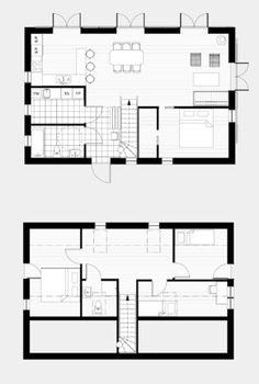 Villan Hunge 121 Arvesund Living — Svenska Ladhus Floor Plans, Diagram, Living, Cabins, House, Cottages, Cabin, Floor Plan Drawing, House Floor Plans