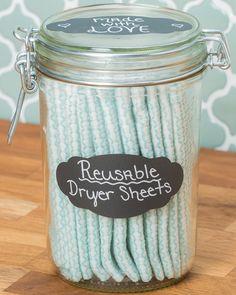DIY Laundry Detergent & Reusable Dryer Sheets