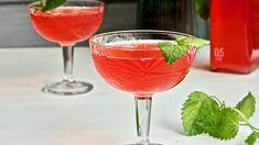Punainen raparperimehu — Peggyn pieni punainen keittio Margarita, Alcoholic Drinks, Tableware, Food, Mascarpone, Dinnerware, Tablewares, Essen, Margaritas