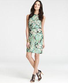 Serene Floral Print Sheath Dress
