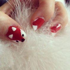 Fox nails Pretty Nail Designs, Nail Art Designs, Cute Nails, Pretty Nails, Fox Nails, My Animal, Nail Ideas, Florence, Nail Polish