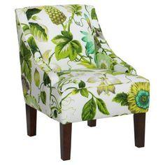 Skyline Furniture Swoop Arm Chair - Grandiflora Jardin - 72-1GRNJRD