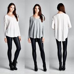 T15262 Loose fit long sleeves V-neck top. Slightly rounded hems. Dropped shoulder. Has inverted seam detailing at front and back. This top is made with medium weight brushed fabric that has a very soft fuzzy texture drapes well and is very warm.  #cherishusa #cherishapparel #shopcherish #fallfashion #fashionbuyer #boutique #fashion #fashiondiaries #instafashion #instastyle #fashionstyle #ootd #fashionable #fashiongram #fallstyle #clothingbrand #fall2015 #tunic #v-neck #brushedfabric…
