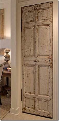 This antique door would look great as a pantry door ~ Decor, Interior Doors For Sale, Home, Old Doors, House, Wooden Doors, White Slipcovers, Wood Doors, New Homes