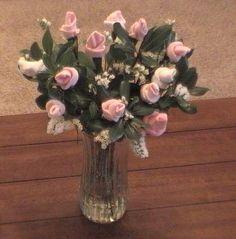 Baby sock roses