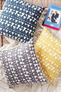 Magical Thinking Anaise Geo Pillow | these are my color sheme