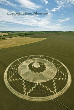 Aliens? No - demonic, fallen angels activity! they show wichcraft symbols in a large scale. Crop Circle.