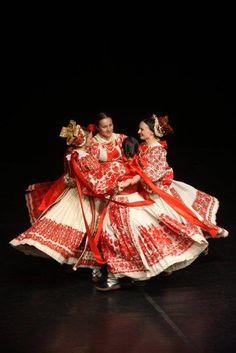 Europe | Women dancing a traditional dance, Posavina, Bosnia - Croatia - Serbia #embroidery