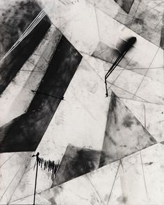 Karl Haendel. Abstract Chicago #1, 2010. Graphite, enamel and charcoal on paper, 60 x 49 inches