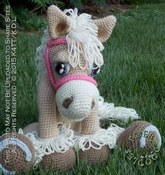 INSTANT DOWNLOAD : Pastiche the Palomino by FiberDoodlesbyK4TT