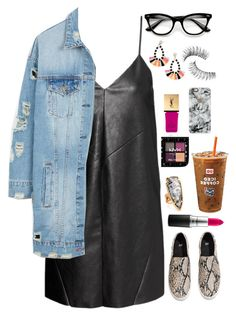 """my my my"" by chrissyb-866 on Polyvore featuring H&M, LE3NO, Yves Saint Laurent, Casetify, BaubleBar, Kendra Scott, ZeroUV, Trish McEvoy and MAC Cosmetics"
