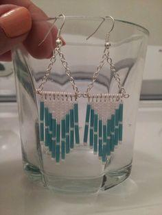 Bugle / seed bead earrings
