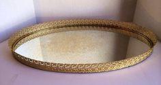Vintage Oval Filigree Vanity Dresser Perfume Mirror Tray  Ornate Extra Large  on Etsy, $95.00