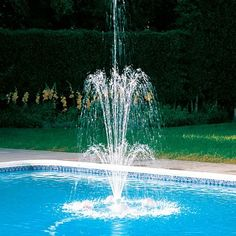 Polaris WaterStars Floating Pool Water Fountain contemporary swimming pools and spas Swimming Pool Fountains, Cool Swimming Pools, Best Swimming, Swimming Pool Designs, Pool Water Features, Pool Colors, Small Fountains, Indoor Fountain, Waterfall Fountain