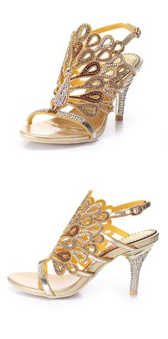 84 Best Rhinestone sandals heels images  6b6a2476c749