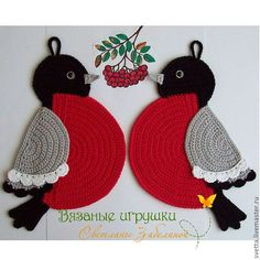 r      ♪ ♪ ... #inspiration_crochet #diy GB birds  could be dishcloth...inspiration only..