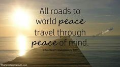 That is why we need peace in life
