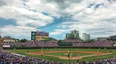 Daytime Reds game at Wrigley . only a win could make this better! Reds Baseball, Baseball Field, Reds Game, Cincinnati Reds, Red S, Baseball Park