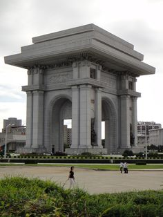 North Korean Arch of Triumph, bigger than the one in Paris. The Arch of Triumph was built to commemorate the Korean resistance to Japan from 1925 to 1945.