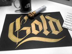 Blackletter / Gold