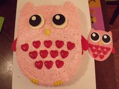 Owl cake & invitation I made for my daughter's birthday by cristina