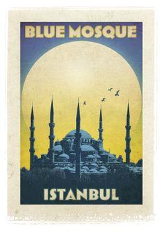 vintage istanbul posters