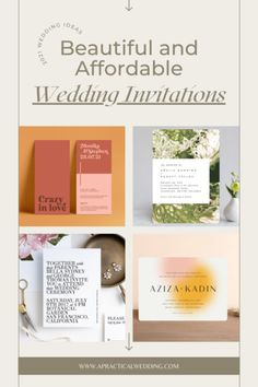 35 Stylish Wedding Invitations That You Can Actually Afford Affordable Wedding Invitations, Wedding Invitation Inspiration, Wedding Paper, Place Card Holders, Stylish, Beautiful, Happy, Ser Feliz, Being Happy
