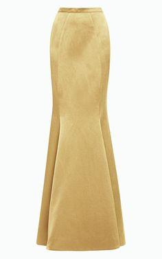 Floor length maxi Crepe Satin skirt Paneled skirt by Gorgones