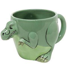 Dinosaur Tails, Dinosaur Mug, The Good Dinosaur, Novelty Mugs, Dinosaur Design, Cool Mugs, Ceramic Design, T Rex, Drinkware