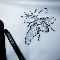 ▫️by Matt Adamson ▫️Send yours to flash. Kunst Tattoos, Body Art Tattoos, New Tattoos, Diy Tattoo, Tattoo Sketches, Tattoo Drawings, Sketch Drawing, Beetle Tattoo, Tattoo Designs