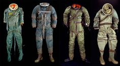 if u click - it takes you to a site. pin it to get back / or don't == your choice. Thank you :-)  // The iconic NASA spacesuit didn't show up in astronauts' closets fully formed. Here, a small sampling of the many precursors held with reverence at the Smithsonian Museum.