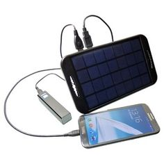 Double Port Solar Charger | Powerplus Camel This solar charger has a 2 Watt output and allows you to charge two USB chargeable devices at the same time like smartphones and power banks.