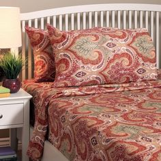 Transform your bedroom with the exquisite boldness of the Milano paisley printed…