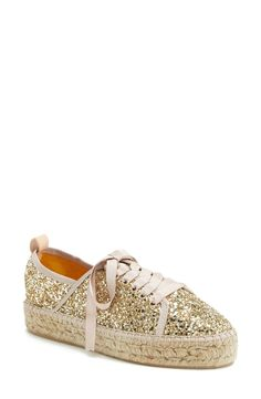 Pairing these gold glitter espadrilles with jeans and a tank.