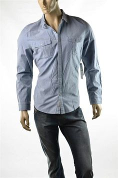 Calvin Klein Jeans Shirt Mens Shirts Casual Button-up Woven Sz L Large NWT #CalvinKlein #ButtonFront