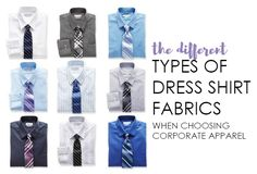 The Different Types of Dress Shirt Fabrics from NYFifth #corporateapparel #mensfashion