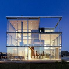 Rieteiland House by Hans van Heeswijk, Very cool glass house outside of Amsterdam.
