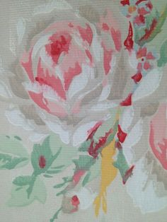 Vintage wallpaper from 40 039 s absolutely gorgeous floral print LAST ONE Rose Arbor, Paper Boxes, Fashion Painting, Household Items, Absolutely Gorgeous, Vintage Decor, French Vintage, Ceilings, Awesome Stuff