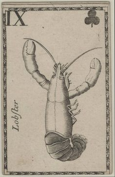 from a deck of playing cards printed by joseph moxon in london, circa 1680