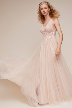 738dd01a47 BHLDN s Written in the Stars Gown in Ivory nude Bohemian Wedding Dresses