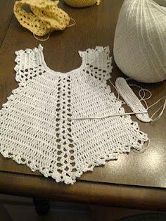 Thread crochet baby set