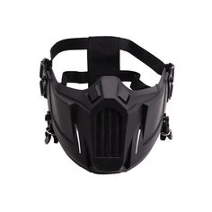 Paintball Mask, Airsoft Mask, Cycling Mask, Helmet Accessories, Half Face Mask, Cool Masks, Protective Mask, Black Mask, Mouth Mask