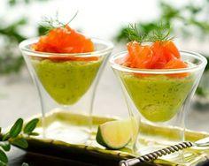 Verrines au saumon rapides